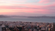 Pretty sunsets and smiling fish: walking San Francisco